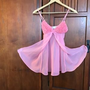LaSENZA Pink Baby Doll, Sz XS/S            2-29DOG